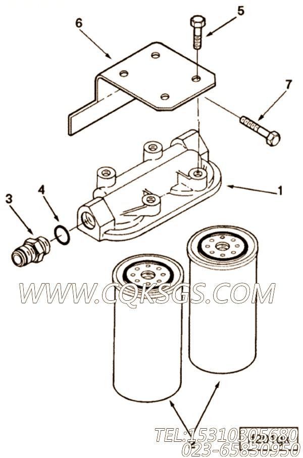 3009887六角螺栓,用于康明斯ISM305V发动机加油口组,【船机】配件