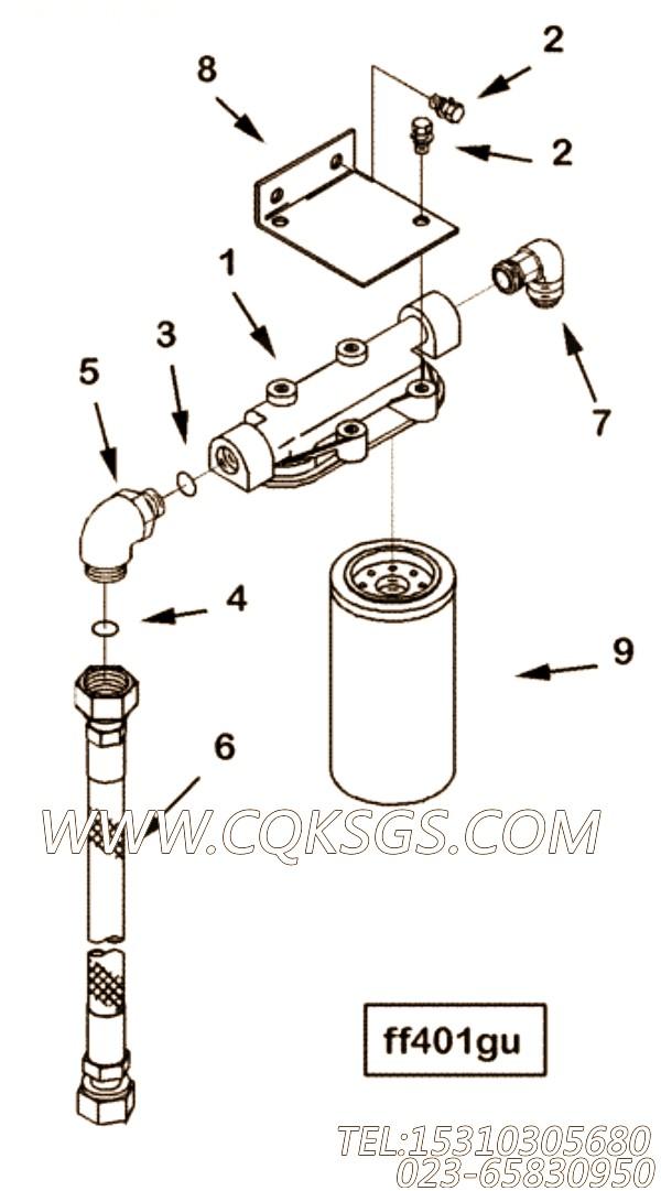 【外螺纹弯头】康明斯CUMMINS柴油机的3085822 外螺纹弯头