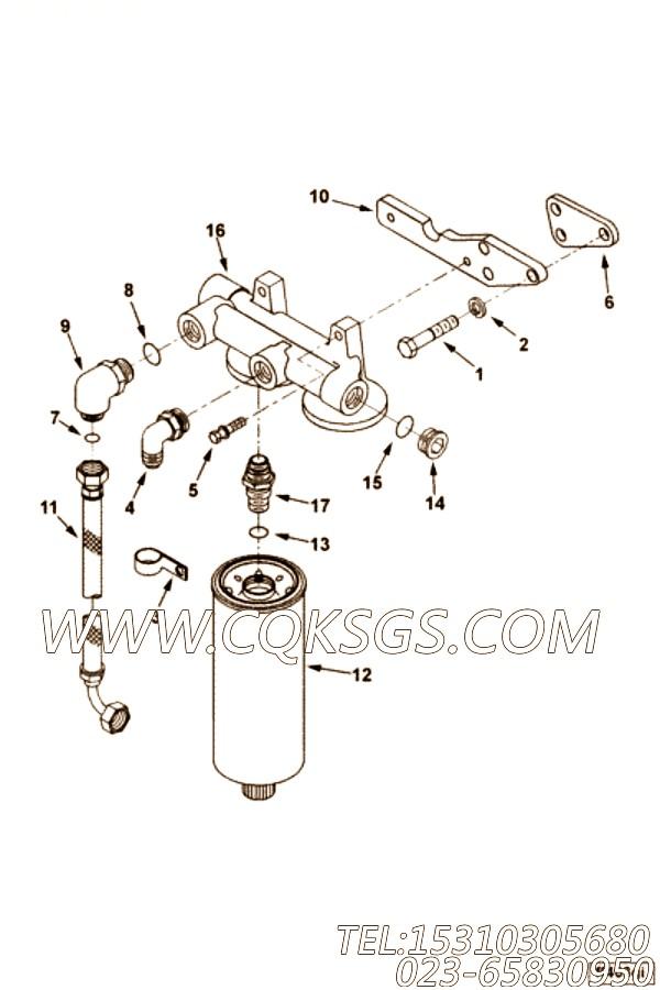 3201583螺塞,用于康明斯KTA38-G5-880KW柴油发动机燃油滤清器组,【发电用】配件