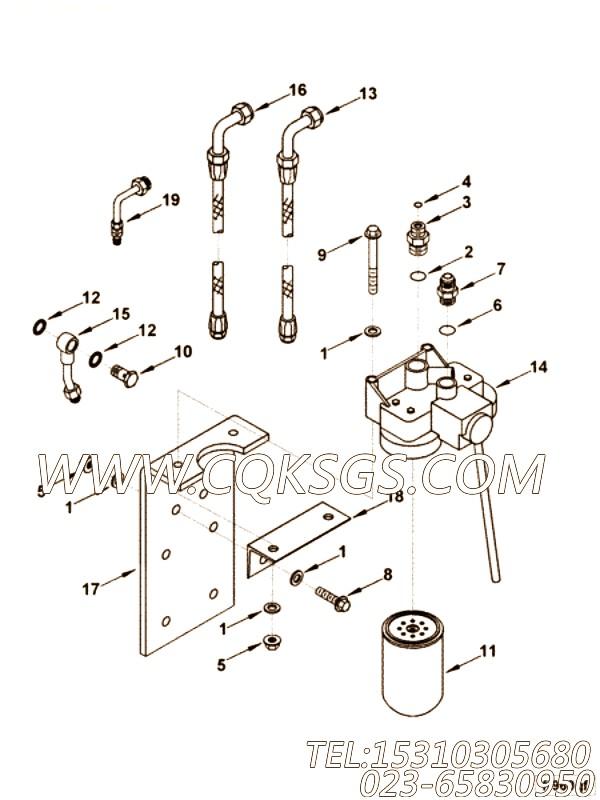 【柔性软管】康明斯CUMMINS柴油机的4003263 柔性软管