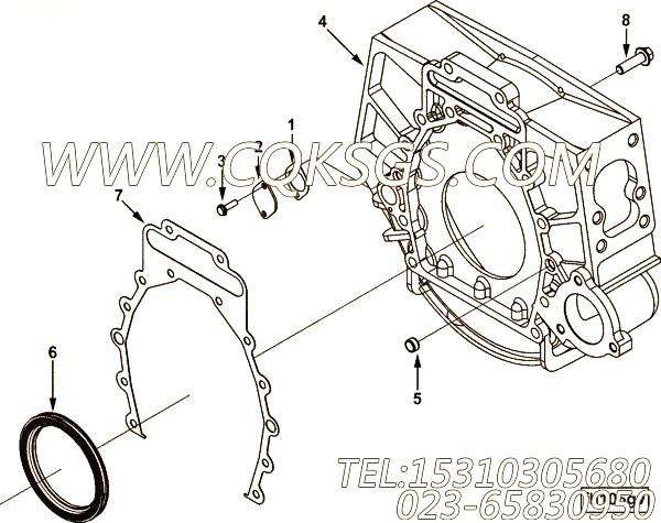 3026134盖板衬垫,用于康明斯M11-C330发动机飞轮壳组,【出口台湾轨道车】配件