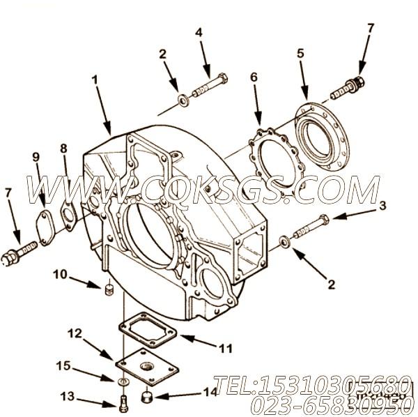 3018006螺栓,用于康明斯ISM305V发动机飞轮壳组,【船用】配件
