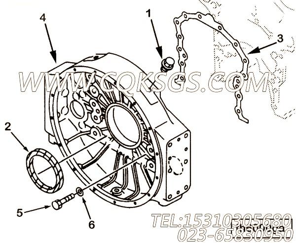 【飞轮壳】康明斯CUMMINS柴油机的3093714 飞轮壳