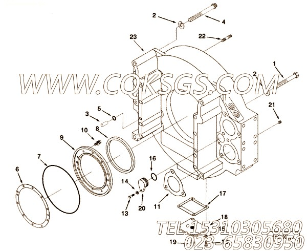 205565十二角螺栓,用于康明斯KT38-M800主机飞轮壳组,【船机】配件