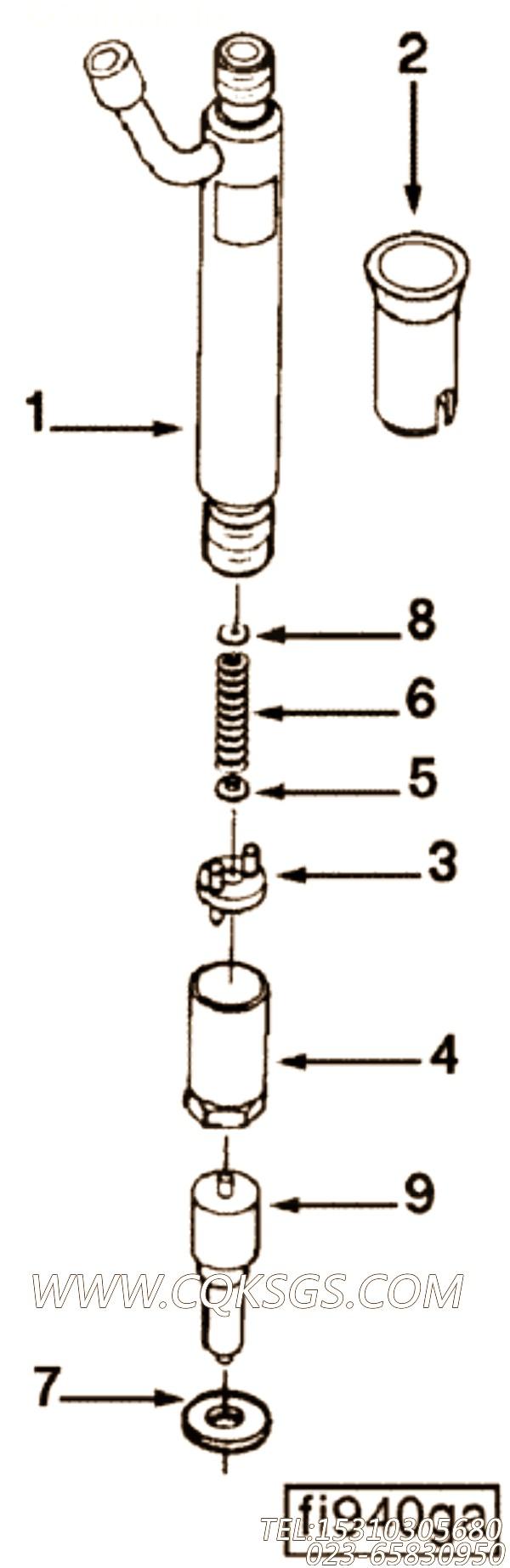 【喷油器】康明斯CUMMINS柴油机的3928228 喷油器
