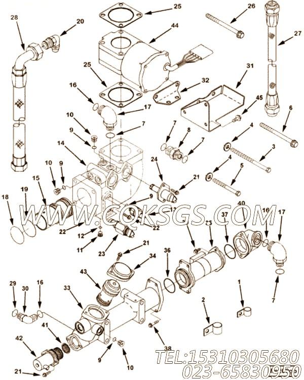 3081347六角螺栓,用于康明斯M11-C225H发动机节温器壳组,【洛阳一拖矿车】配件
