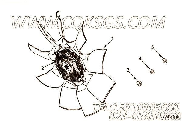 【引擎4BTA3.9-C110的排气弯管组】 康明斯矩形六角螺母,参数及图片