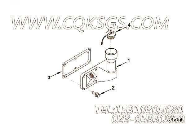 MP5090盖及支架安装,用于康明斯KTA19-G2发动机手孔盖组,【电力】配件