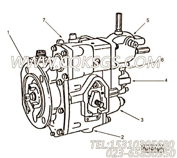 【齿轮油泵】康明斯CUMMINS柴油机的3034245 齿轮油泵