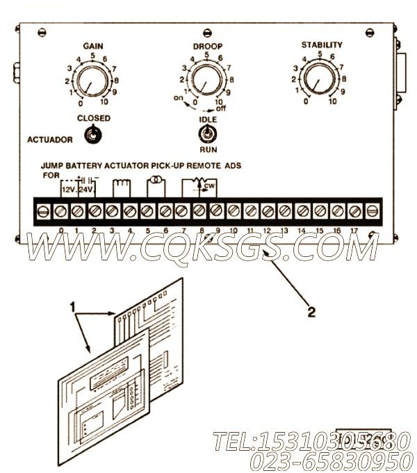 【调速器控制】康明斯CUMMINS柴油机的3353816 调速器控制