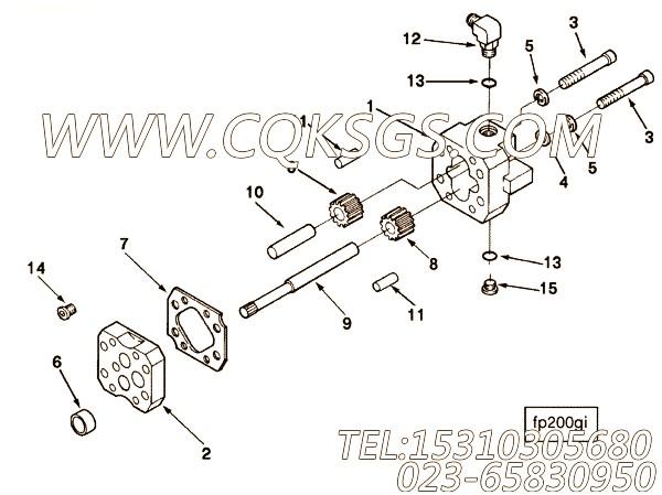 【燃油泵齿轮罩】康明斯CUMMINS柴油机的3033726 燃油泵齿轮罩