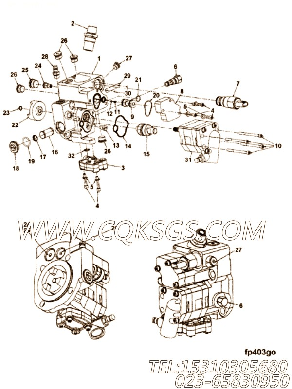 Housing, Fuel Pump Gear