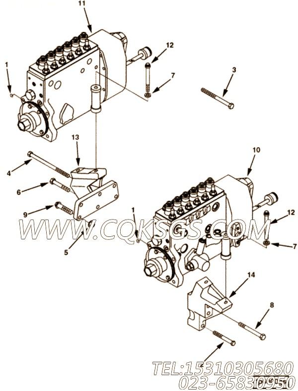 3017502六角螺栓,用于康明斯M11-C350动力节温器壳组,【军品车】配件