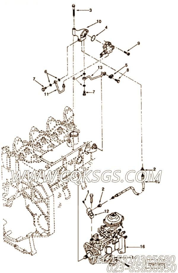 【引擎4BTA3.9-C110的易损件组】 康明斯琶形接头垫片,参数及图片