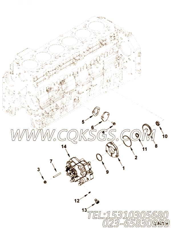 【发动机ISBE220 31的基本燃油泵组】 康明斯双头螺柱,参数及图片