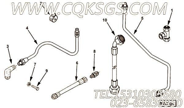 【柔性软管】康明斯CUMMINS柴油机的3329076 柔性软管