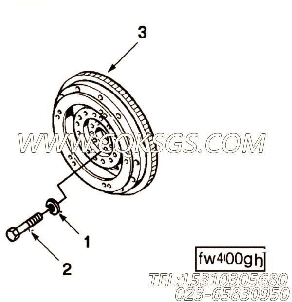 AR45221柔性盘总成,用于康明斯KT19-C450发动机飞轮总成组,【垃圾压实车】配件