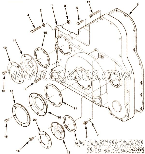 3335003六角螺栓,用于康明斯NT855-C280柴油机机油盘组,【重庆红岩】配件
