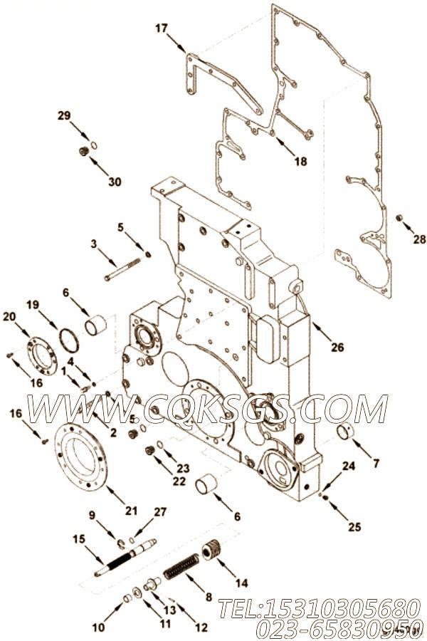 【齿轮盖垫片】康明斯CUMMINS柴油机的4080829 齿轮盖垫片