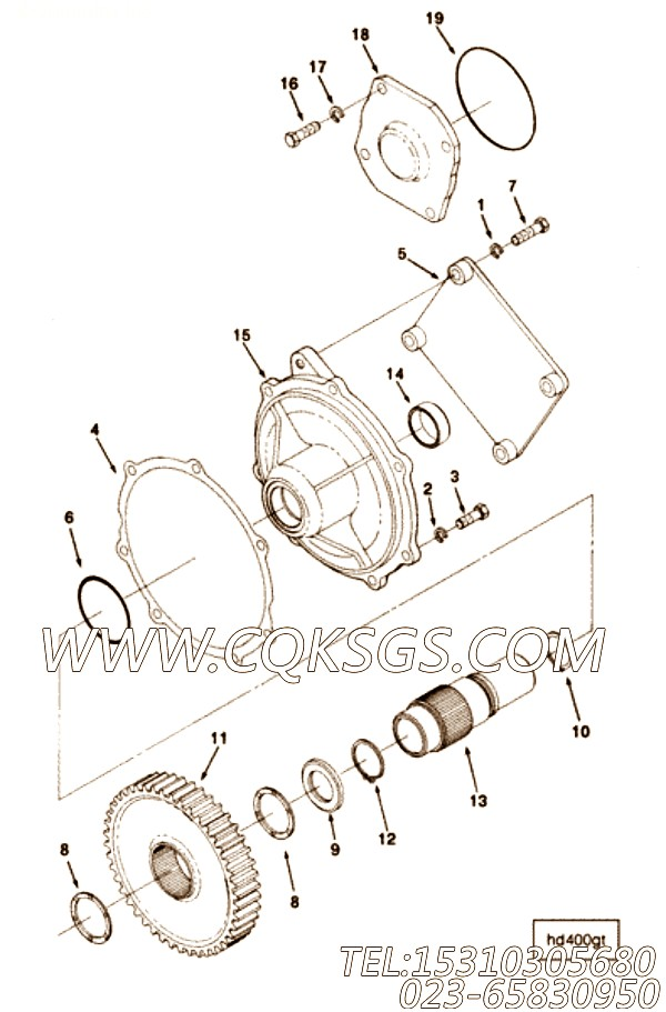 【Cover, Pto Case】康明斯CUMMINS柴油机的3325154 Cover, Pto Case