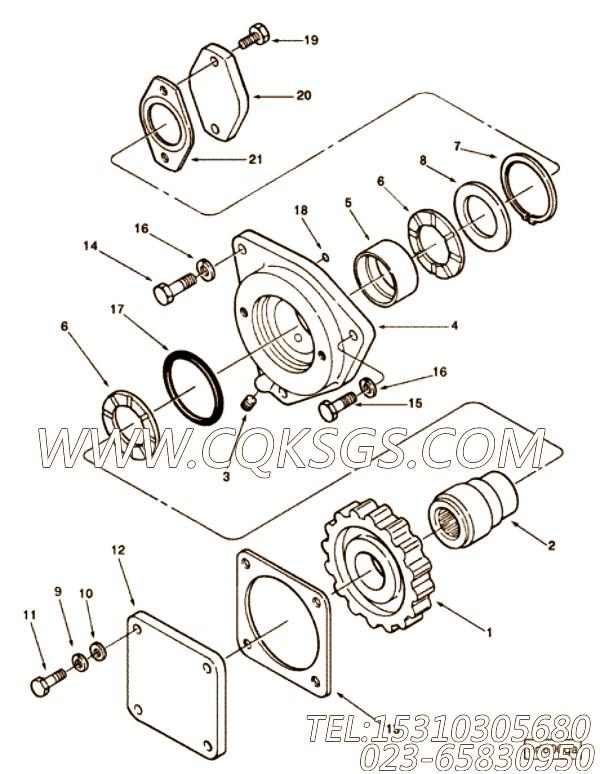 127571平垫圈,用于康明斯KTA38-G2-600KW动力液压泵驱动组,【电力】配件