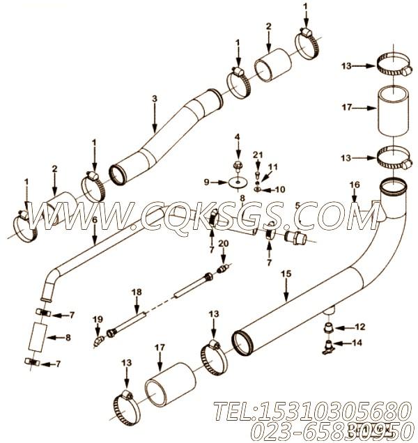 3165964平垫圈,用于康明斯NTA855-G1发动机散热器组,【发电用】配件