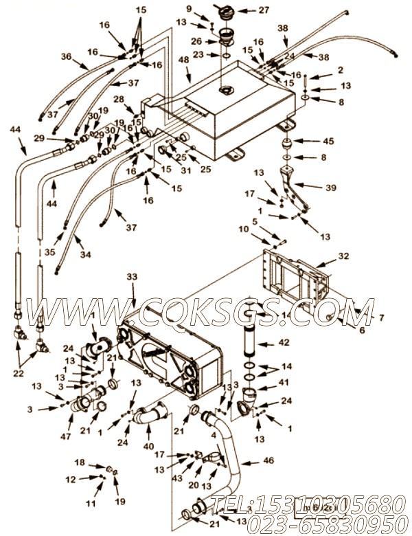 【柔性软管】康明斯CUMMINS柴油机的4964681 柔性软管