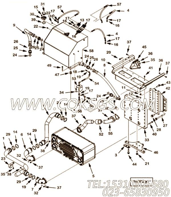 【柔性软管】康明斯CUMMINS柴油机的2867222 柔性软管