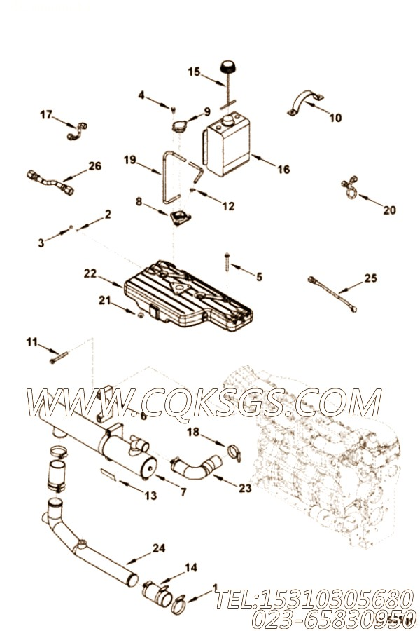 【柔性软管】康明斯CUMMINS柴油机的3969359 柔性软管