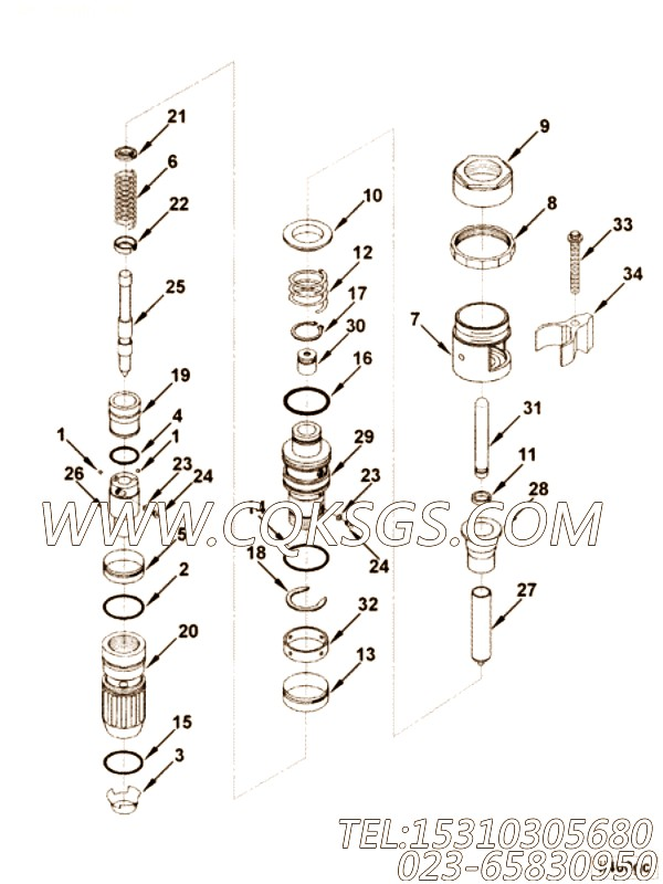 Coupling, Injector Plunger