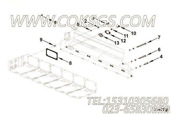 3011510中冷器室安装,用于康明斯KTA19-C525柴油机进气管安装组,【压路机】配件