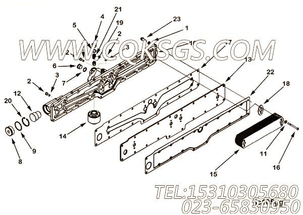【引擎ISZ13-G2的机油冷却器组】 康明斯固定环,参数及图片