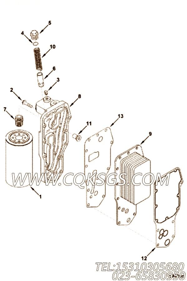 【3957544】机油冷却器芯 用在康明斯柴油机