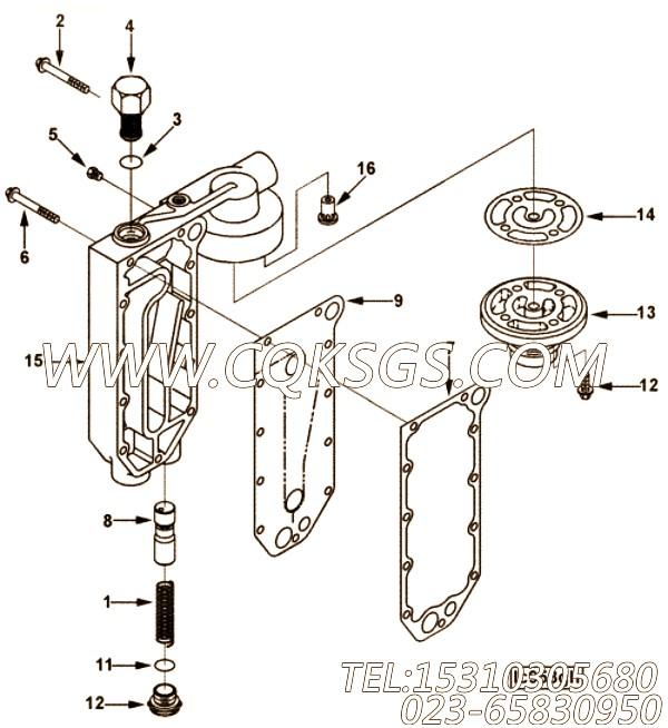 【机油冷却器盖】康明斯CUMMINS柴油机的4063498 机油冷却器盖