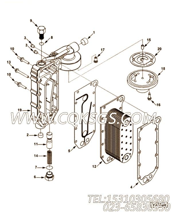 【C3966365】机油冷却器芯 用在康明斯柴油机