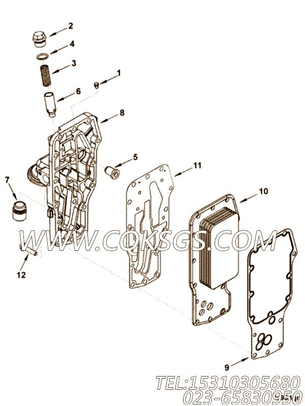 【4983358】机油滤清器座 用在康明斯柴油发动机