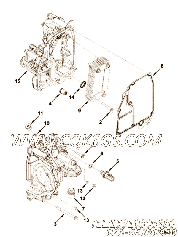 【引擎ISB3.9-160E40A的发动机控制模块组】 康明斯压力开关,参数及图片