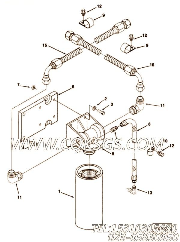【柔性软管】康明斯CUMMINS柴油机的3899737 柔性软管