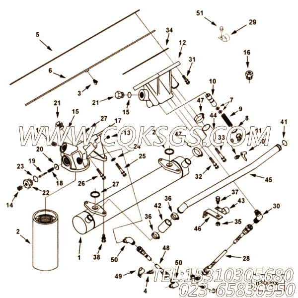 【柔性软管】康明斯CUMMINS柴油机的AS 8026 SS 柔性软管