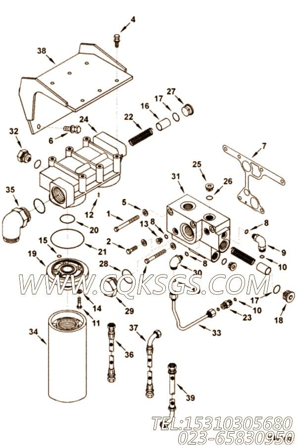 【适配器弯头】康明斯CUMMINS柴油机的3331623 适配器弯头