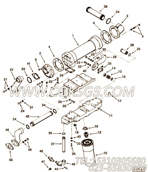 68425夹子,用于康明斯KTA19-P425主机发动机导线组,【泥浆泵】配件