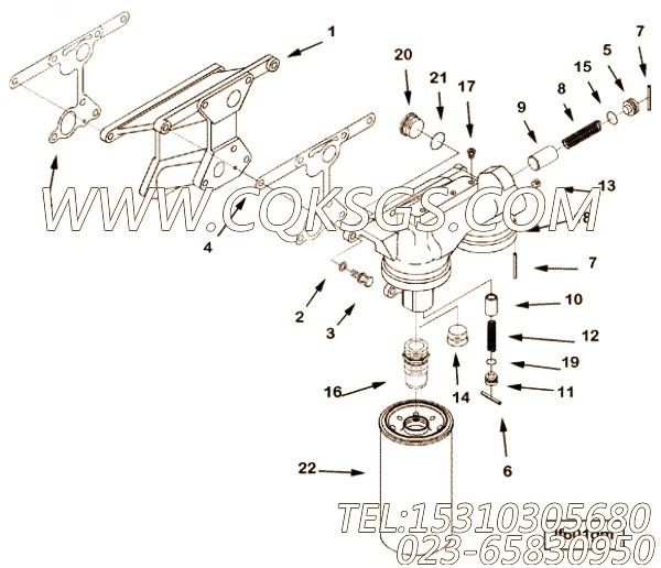 69533压力调节器制动器,用于康明斯KTA19-G3动力机油滤清器组,【电力】配件