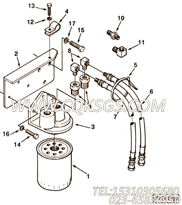 【过滤器支架】康明斯CUMMINS柴油机的C0122067000 过滤器支架