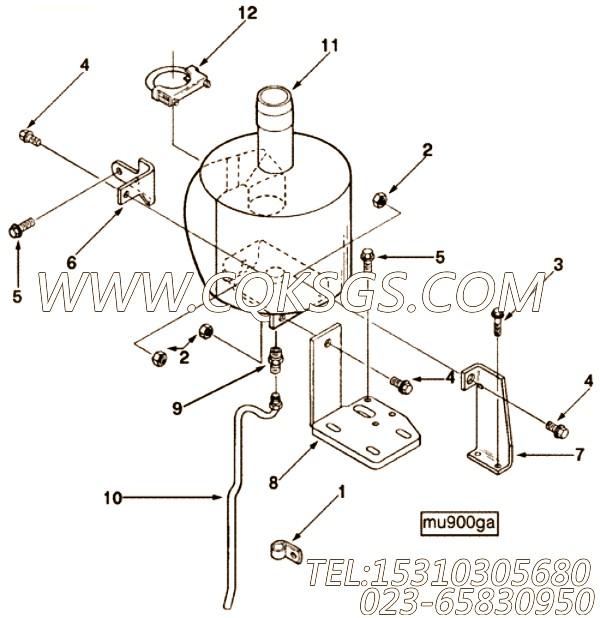 【消声器】康明斯CUMMINS柴油机的3916403 消声器