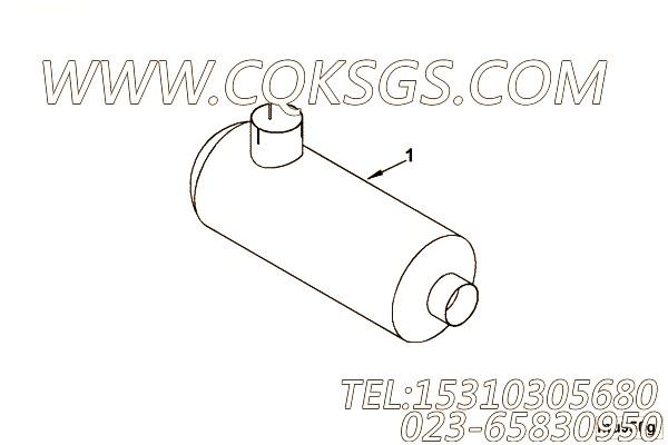 【C3971045】消声器 用在康明斯发动机