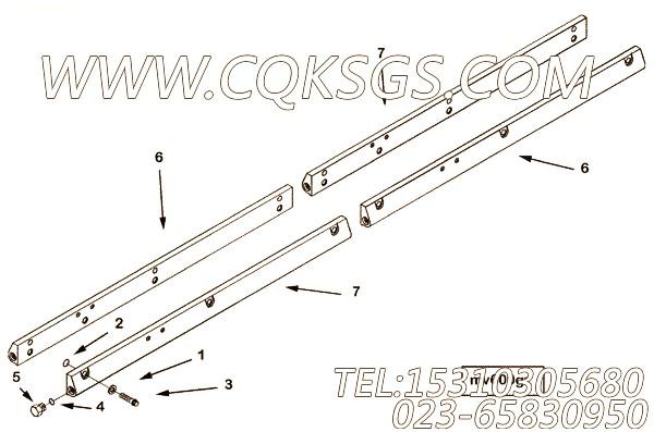 3084621输油管,用于康明斯KTA38-C1050柴油机性能件组,【徐工拌合机】配件