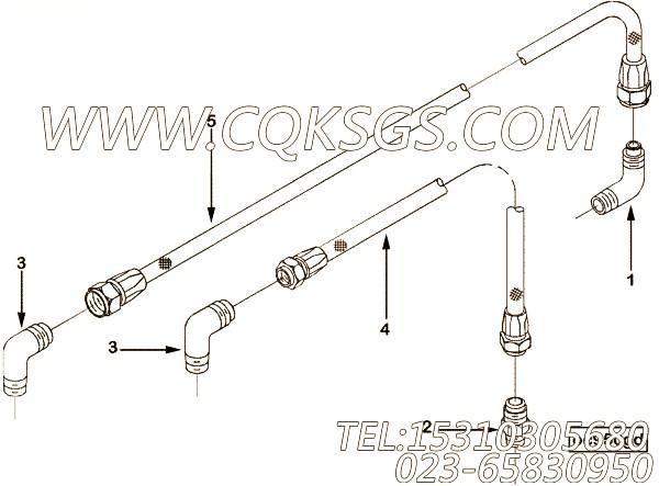 【柔性软管】康明斯CUMMINS柴油机的3965435 柔性软管