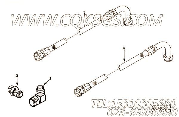 【柔性软管】康明斯CUMMINS柴油机的3976224 柔性软管