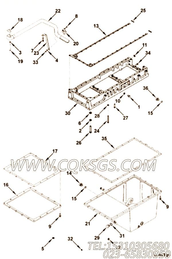 153518矩型密封圈,用于康明斯KTA19-P540柴油机机油盘组,【消防泵】配件