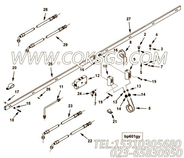 3081950阳性弯接头,用于康明斯M11R-290动力增压器回油管组,【船机】配件